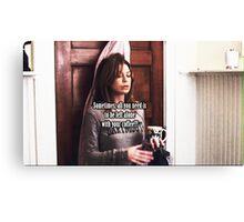 Meredith Grey Coffee Canvas Print