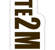 #Vote2Miguel Banner Brown Sticker