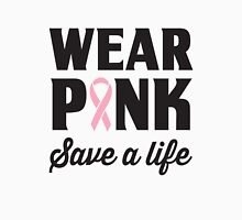 Wear Pink Save A Life Womens Fitted T-Shirt