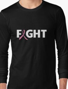 Fight Ribbon for Breast Cancer Long Sleeve T-Shirt