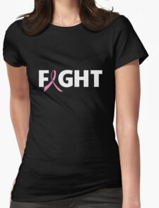 Fight Ribbon for Breast Cancer Womens Fitted T-Shirt