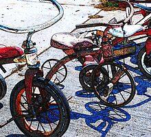 Vintage Tricycles by Kim Krause