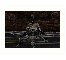 Propeller/Engine Cowl View of Airplane Art Print