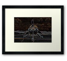 Propeller/Engine Cowl View of Airplane Framed Print