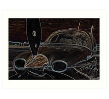 Propeller/Engine Cowl View of Airplane 2 Art Print