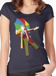 The Sixth Doctor - Doctor Who - Colin Baker Women's Fitted Scoop T-Shirt
