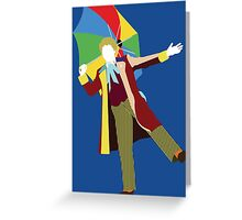 The Sixth Doctor - Doctor Who - Colin Baker Greeting Card