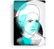 Simone de Beauvoir Canvas Print