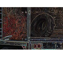 LoneTire in Back of Semi Photographic Print