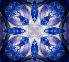 Blue Glass Kaleidoscope by SRowe Art