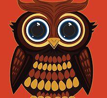 Friendly Owl - Orange by Adamzworld