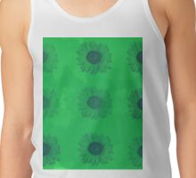 Sunflowers in Green Tank Top