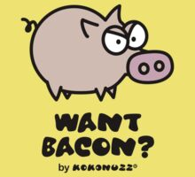 Want Bacon? Angry Pig Kids Clothes