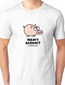 Want Bacon? Angry Pig Unisex T-Shirt