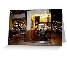 New York, cafe Greeting Card