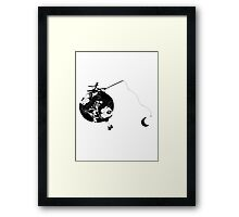 Monsieur Jacques moon's fisherman Framed Print