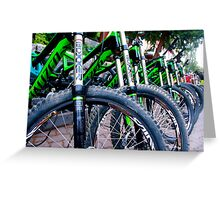 Wheel and Spokes Greeting Card