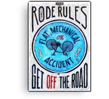 Road Rules 9 Canvas Print