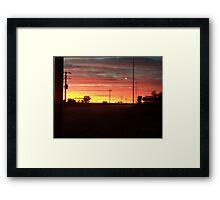 Australian Outback Sunset Framed Print