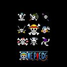 Straw Hat Jolly Rogers by Blackson