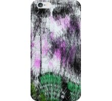 Fury green curved lines. iPhone Case/Skin