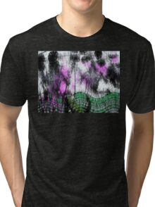 Fury green curved lines. Tri-blend T-Shirt