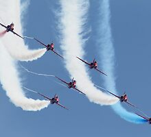 RAF Red Arrows - Formation Display by Pat Speirs