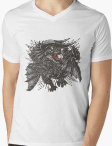The Fierce Black Horn Mens V-Neck T-Shirt