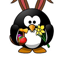 Easter Bunny Penguin by kwg2200