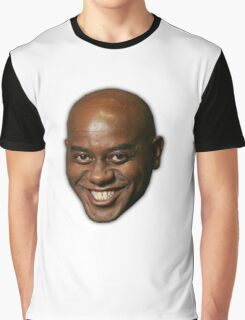 Large Ainsley Harriott Face Print Graphic T-Shirt