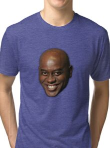 Large Ainsley Harriott Face Print Tri-blend T-Shirt