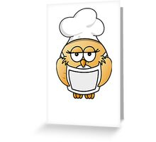 Chef Penguin Greeting Card