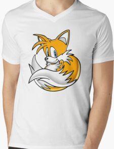 Tails the Fox Mens V-Neck T-Shirt