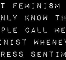 Feminist: Not a Doormat or a Prostitute Sticker