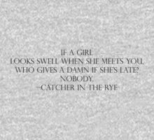If A Girl Looks Swell -Catcher In The Rye Kids Clothes