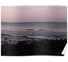 Waves at Burleigh Sunset Poster