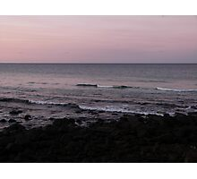Waves at Burleigh Sunset Photographic Print