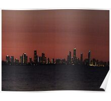 Surfers Paradise Lights Poster
