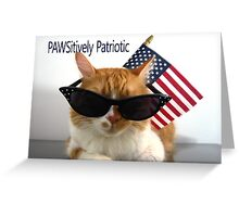 PAWSitively Patriotic Cat Greeting Card