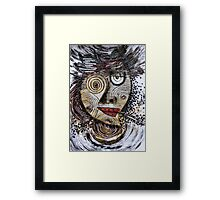 Barbarism (8) - Black-eyed  lady with cigar Framed Print