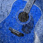 Blue Painted Guitar by Barbara Griffin