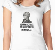 I have pictures of my boyfriend in my wallet Women's Fitted Scoop T-Shirt