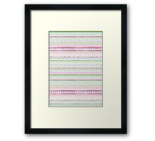 Aqua Screen Print Aztec Framed Print