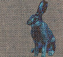 Blue Hare by AxiomaticArt