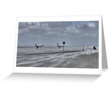 Windy day at St. Peter-Ording Greeting Card