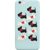 Scottie Dog iPhone/iPod case – blue iPhone Case/Skin