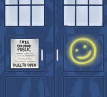 Sherlock's Tardis Sticker