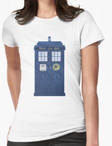 Sherlock's Tardis Womens Fitted T-Shirt