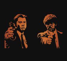#mfp Pulp Fiction movie logo black t-shirt tshirt by paulineperry398