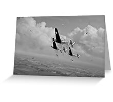 Rising to the challenge - black and white version Greeting Card
